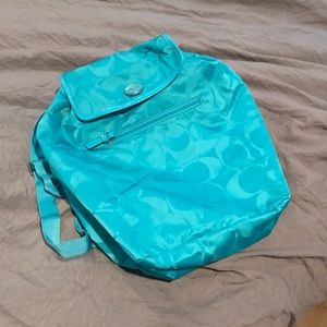 Blue Coach Bookbag